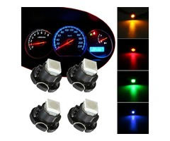 1pcs T5 Wedge 5050 SMD LED Bulb Dashboard Gauge Cluster Instrument Light 12V