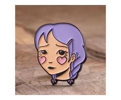 Shy Girl Enamel Pins