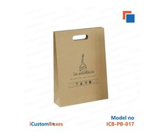 Buy brown paper bags wholesale at iCustomBoxes