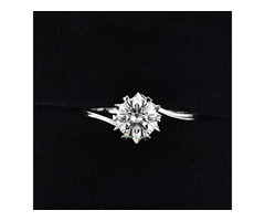 Luxury Solitaire 2.0ct Original 18K Rose Gold Zirconia Diamond Ring