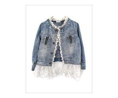Girls Denim Jacket - Miabellebaby
