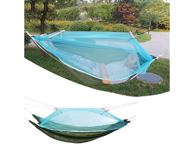Hammock Outdoor Camping Swing Bed Portable Sleeping Bed Max Load 150kg With Mosquito Net | free-classifieds-usa.com