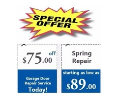 Buy one garage door spring and get second at half price only