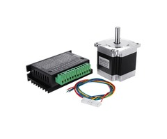 Nema 23 23HS5628 2.8A Two Phase 6.35mm Shaft Stepper Motor With TB6600 Stepper Motor Driver For CNC