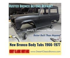 New Bronco Body Tubs 1966-1977