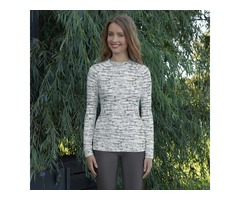 Women's Rash Guard Activewear for Women Shades of Grey