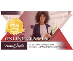 Certified Scrum Master | Virtual Instructor (CST) Led Workshop | Scrum Stubs |
