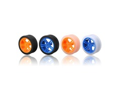 65*27mm Blue/Orange Rubber Wheels for TT Motor  Arduino Smart Chassis Car Accessories