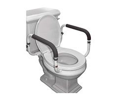 Carex Toilet Safety Frame – Toilet Safety Rails With Adjustable Width – Supports 300lbs