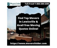 Find Top Movers in Lewisville & Avail free Moving Quotes