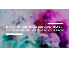 The go-to prom dress colours that'll add some splash of style to your prom!