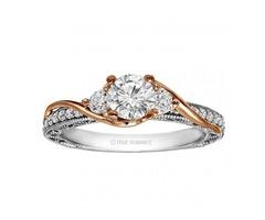 Round Cut Diamond Vintage Style Engagement Ring SKU: RM1549