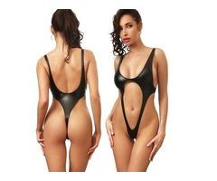 B2prity Women's Monokini Front Cross One Piece Swimsuits Tummy Control Swimwea