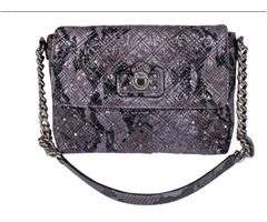 Marc Jacobs - Gray Snakeskin Quilted Bag w/ Studs  Authentic