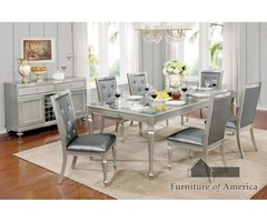 Buy Contemporary 7 Pieces Dining Table Set Furniture For Sale