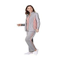Three Piece Pantset Zip Front Jacket, Pant and Sleeveless Top