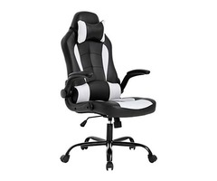 BestOffice PC Gaming Chair Ergonomic Office Chair Desk Chair with Lumbar Support Flip Up Arms