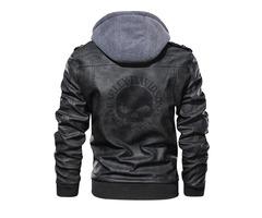 Harley Davidson Logo PU Leather Jacket