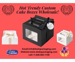 Hot Trendy Custom Cake Boxes Wholesale!