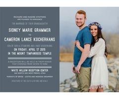 Affordable Pocket Wedding Invitation