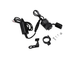 Universal 9-90V Dual USB Motorcycle Waterproof Charger Handlebar Socket Adapter