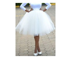 Ball Gown Mesh Knee-Length Casual Womens Skirt