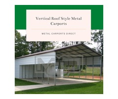Vertical Roof Style Metal Shelters for Sale in North Carolina