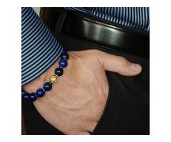Mens Stone Bead Bracelets