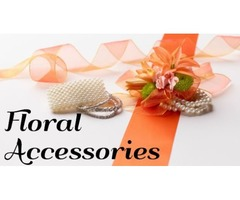 Decorative Satin Ribbons with Floral Accessories in Wholesale