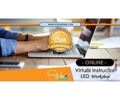 Certified Scrum Master | CSM | Virtual Instructor (CST) Led Workshop | Scrum Stubs |