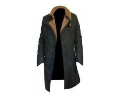 2049 Waxed Cotton Coat