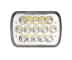 1Pcs 7X6'' H4 LED Car Headlights Bulb Crystal Clear Sealed Hi&Lo Beam DC12V 45W 3200LM White
