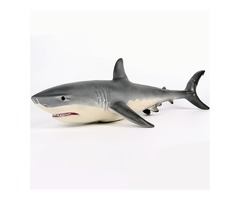 19 Inches Big Size Megalodon Great White Shark Toy Diecast Model Figure Toy Gift