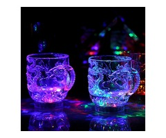 Luminous LED Color Changing Dragon Flashing Wine Cup Water Activated Night Light Home Bar Decor