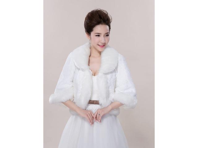 White Wedding Fur Jacket Wedding Shawl | free-classifieds-usa.com