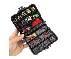 ZANLURE 128pcs/set Fishing Tool Set Sinkers Swivels Stoppers Hooks Connector Fishing Lure With Box