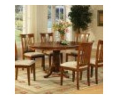 Pc Dining Room Set For 4-Oval Dining Table With Leaf And 4 Dining Chairs