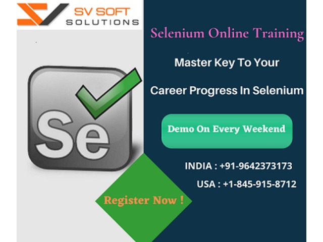 Best Selenium Online Training from SV Soft Solutions | free-classifieds-usa.com