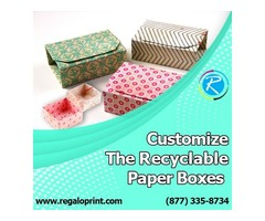 Customize The Recyclable Paper Boxes – RegaloPrint