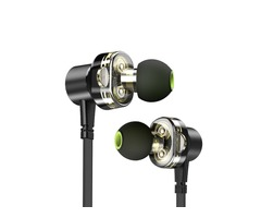 [Dual Dynamic] Awei Z1 Earphone 3.5mm Wired Control Magnetic Adsorption Bass Headphone with Mic