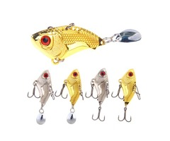ZANLURE 4pcs/set 16g 4.5cm Vibration Spoon VIB Fishing Lure Artificial Hard Bait For Sea Fishing