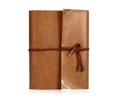 Vintage PU Leather Photo Album Case Memory Book Paste DIY Scrapbook