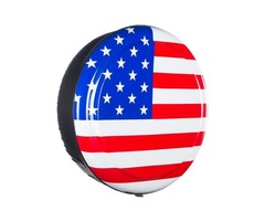 American Flag Rigid Tire Cover