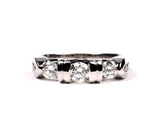 14K White Gold Diamond Wedding Ring - SKU: 116-12442