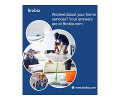Worried about your home services - Find your answers on Brobia