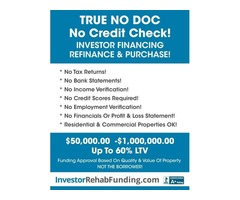 NO CREDIT CHECK – Investor Refinance Cash Out To $1Million!