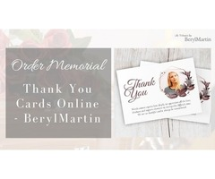 Order Memorial Thank You Cards Online - BerylMartin
