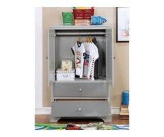 Diane Transitional Armoire (Grey) Furniture Of America