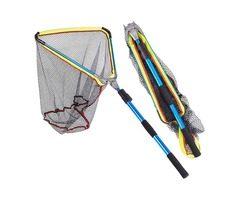 LEO 50x50x60cm Aluminum Alloy Folding Fly Triangle Brail Fishing Net Telescopic Portable Fish Trap