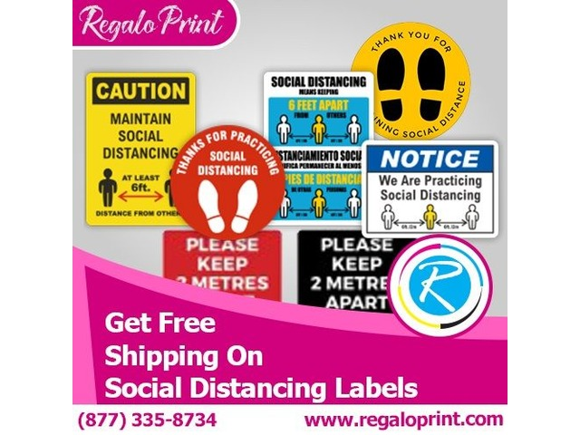 Get Free Shipping on Social Distancing Labels – RegaloPrint  | free-classifieds-usa.com
